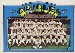 1972 Topps Baseball Cards      731     Baltimore Orioles TC